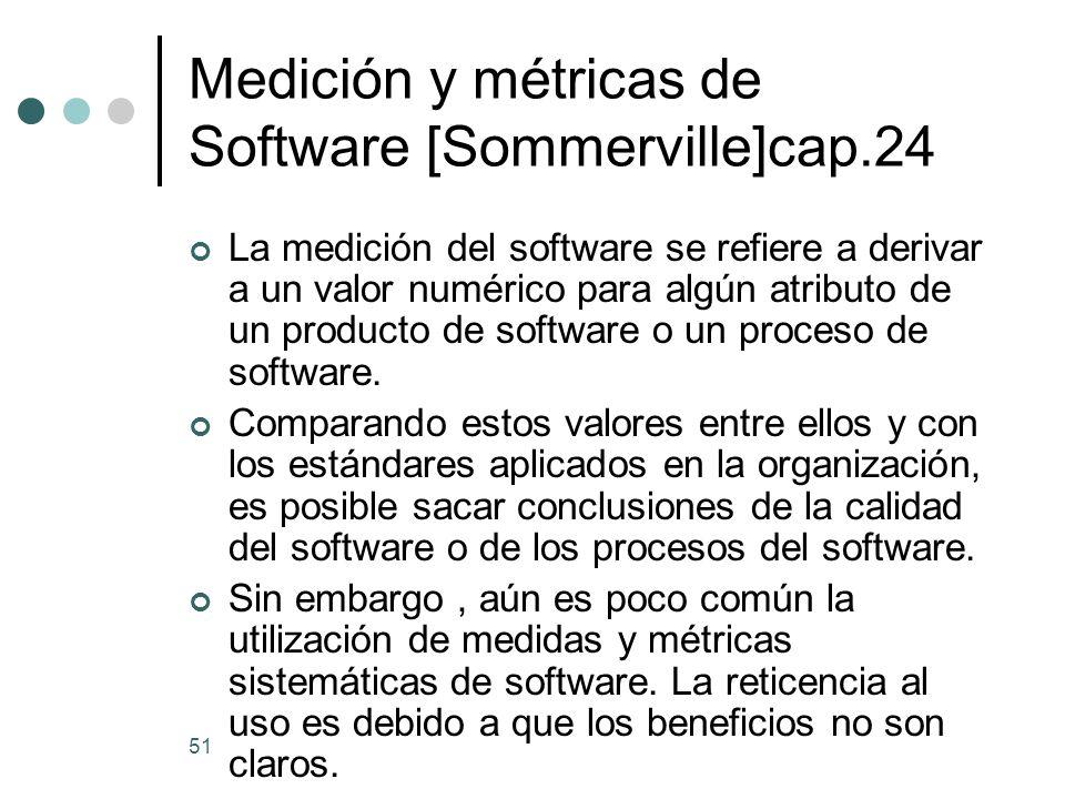 Medición y métricas de Software [Sommerville]cap.24